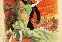 """Theâtre de l'Opera, Follies Bergere, and Moulin Rouge"" / Vintage Poster"
