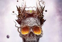 Skull art work / by Aaron Peacock