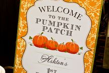 Pumpkin Patch Birthday / I have collected some great ideas and inspiration on having Pumpkin Patch Birthday