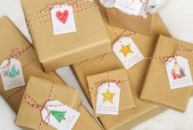 Gift Wrapping Ideas / ideas and tutorials for wrapping gifts, esp with kraft paper