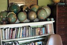 globes / globes around the world