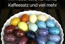 Ostern: Deko, Eierfärben, ect.