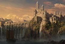 castles and fantasy worlds
