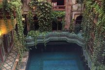 Courtyard pool