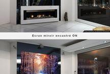 Ecrans miroirs en encastrement