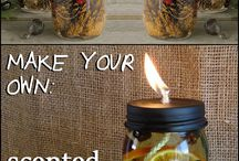 Scented oil candles