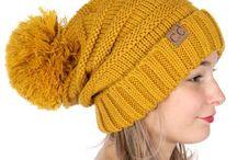 Yellow CC Beanie Hats