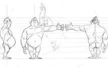 Anatomie des personnages