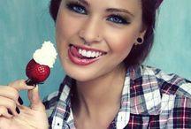 pin up girl / Sminkek, frizurák, ruhák pin up stílusban.
