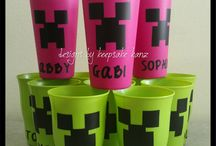 Minecraft Party / Birthday party ideas with a Minecraft theme