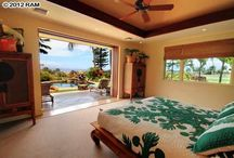 Hawaii Homes: Bedrooms / Some of our favorite bedrooms found in houses around Maui, Hawaii.