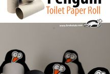 zimní tvoření -tučňáci