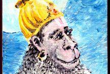 Hanuman - Acrylic