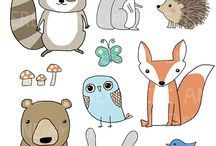 Art & Doodles - Animals - Forest/Woodland / by Heather R