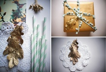 I D E A S - mint and gold / Christmas decor in mint and gold