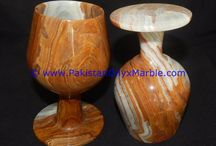 ONYX WINE SHERRY GLASSES SET MULTI BROWN ONYX DECORATIVE STONE GLASSES,
