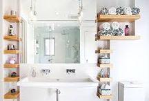 Easy DIY storage ideas / easy DIY storage ideas for a home. Bathroom storage ideas.