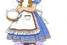 Alice in W: Paperdoll  etc / Alice in Wonderland