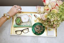 Table Accessories - Home Decor / Stylish ways to decorate your coffee table from style expert and Realtor, Milena Joy. #homedecor #style #coffeetable / by Milena Joy