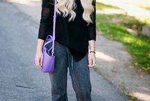 how to wear: slouchy pants