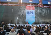 APL Savannah / On 4 Oct 2013, APL welcomed the latest addition to our global fleet with the naming of a 9,200-TEU (twenty-foot equivalent unit) containership at the Port of Los Angeles. The APL Savannah is the fifth in a series of twelve 9,200-TEU vessels to be delivered to APL. She is also the first containership to be named and christened at the Port of Los Angeles.   / by APL Shipping