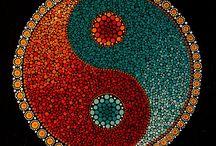 dot painting ying yang