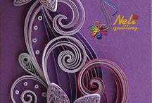 Neli Quilling fleurs violet