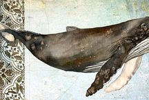 Whales, Dolphins & Marine Mammals / Fabulous whales, dolphins and other marine mammals in the ocean and in art.