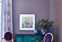Color Spotlight: Purple / Purple rooms and paint projects!