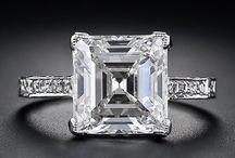 Square step cut diamond