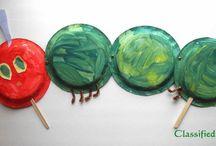 hungry caterpillar crafts / by Jill Gillen