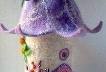 DIY jucării/decor lâna împăslită