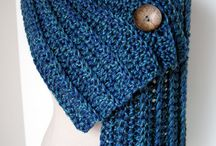 Pletené šály a čepice