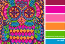 Mental Color Palettes - Find your inner power by coloring / Color palettes for colorists