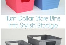 Dollar Store Organization, Crafts and Hacks! / Who doesn't love a Dollar store find?