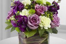 květiny ve sklenici