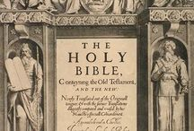 1611 King James Bible / Showing the original print of the first edition of the King James Bible.  / by Curt Wood