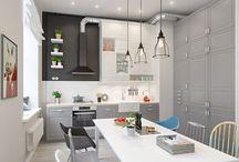 Kjøkkenhetter / Ventilator, hette, sentralt avsug, eye catching,
