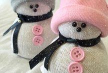 Sněhuláci z ponožek / Sock snowman