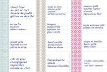 Idée menu