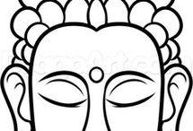 Boeddha tekeningen