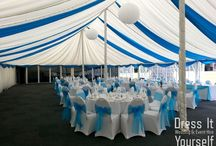 Shenley Cricket Club Summer Marquee / A mirriad of ways to dress a very large marquee with 3 poles in the centre.  This venue has xxcellent food and service.