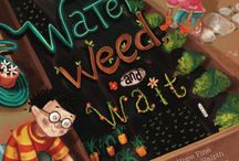 Water, Weed, and Wait: School Gardens / Tons of schools nationwide are creating school gardens. A San Diego Master Gardener said teachers needed a book for kids about school gardening. Voila! Water, Weed, and Wait with illustrations by Colleen Madden.