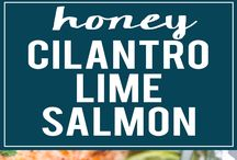 fish honey& cilantro lime salmon