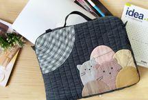 Handmade bag / #yarn dye fabric #precut fabric #patchwork #haori taiwan