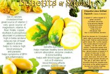 Squash / Dietary Information on squash and some recipes to help you navigate your way through your CSA delivery this month!