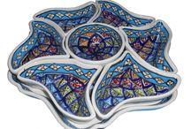 Hand-decorated ceramic from Tunesia