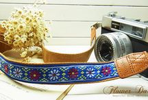 Lusikka pure flower embroidery camera strap / Lusikka pure flower embroidery camera strap
