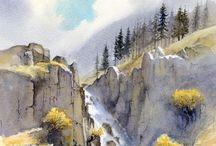 Canvas mountain