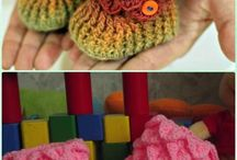 Crocheted baby things